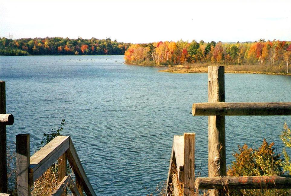 Oscoda County Park overlooking Mio Pond