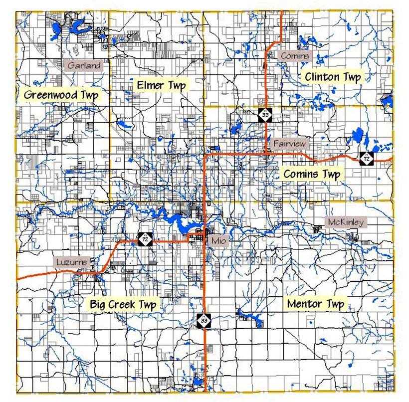 Oscoda County townships